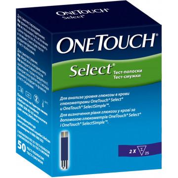 Тест полоски One Touch Select LifeScan